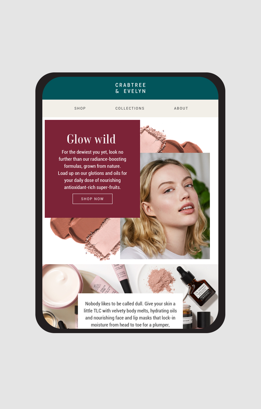 Crabtree and Evelyn email design