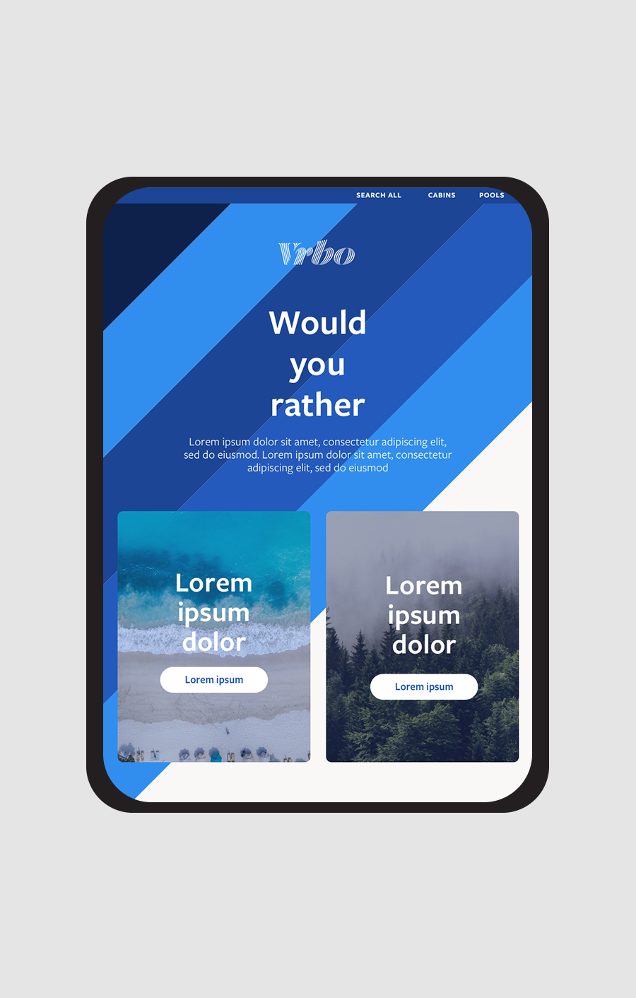 Vrbo email design