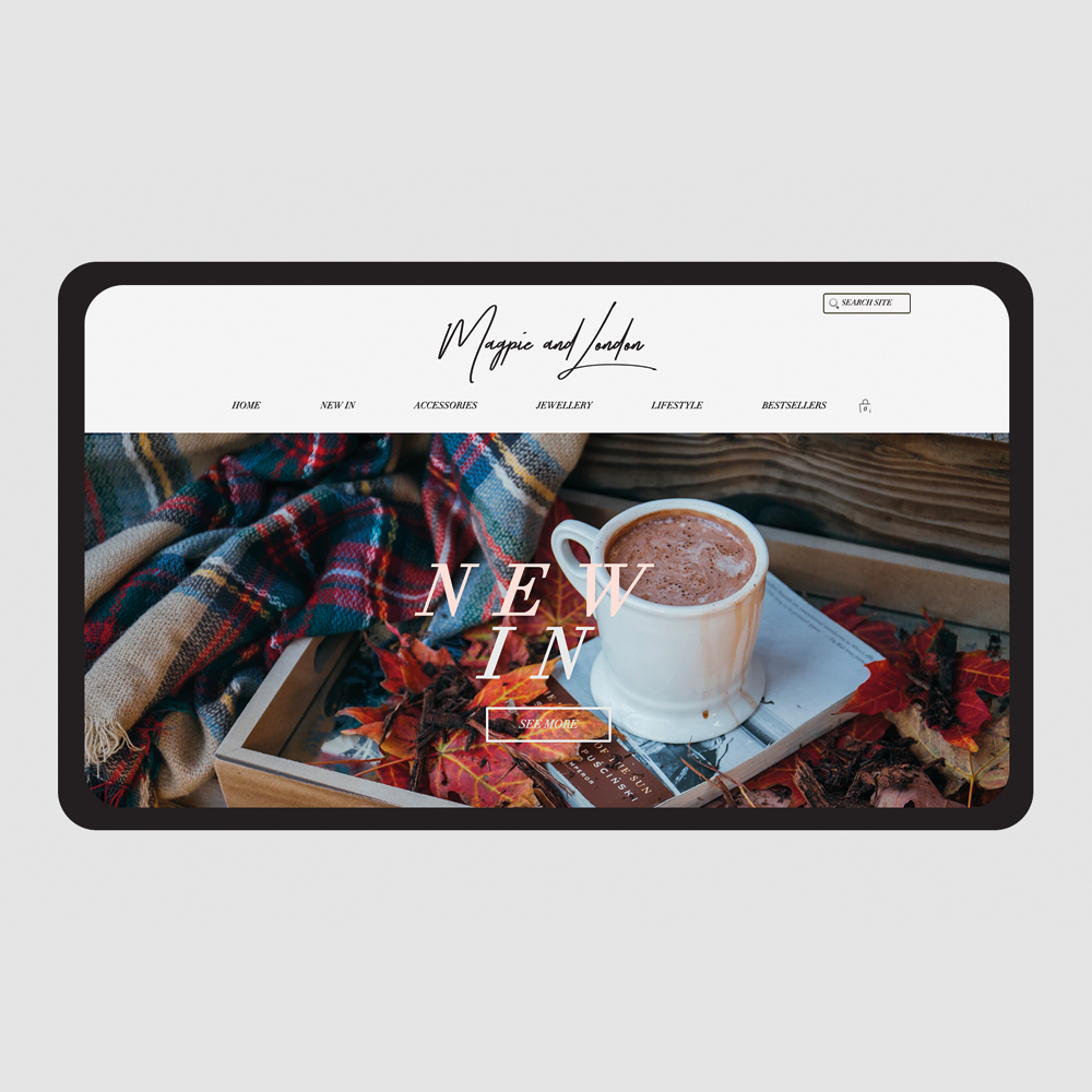 Magpie and London homepage design