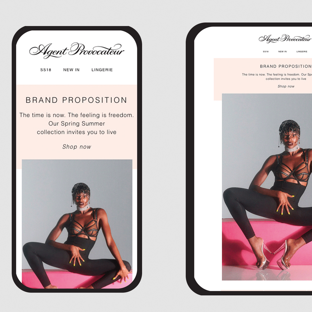 Agent Provocateur email design